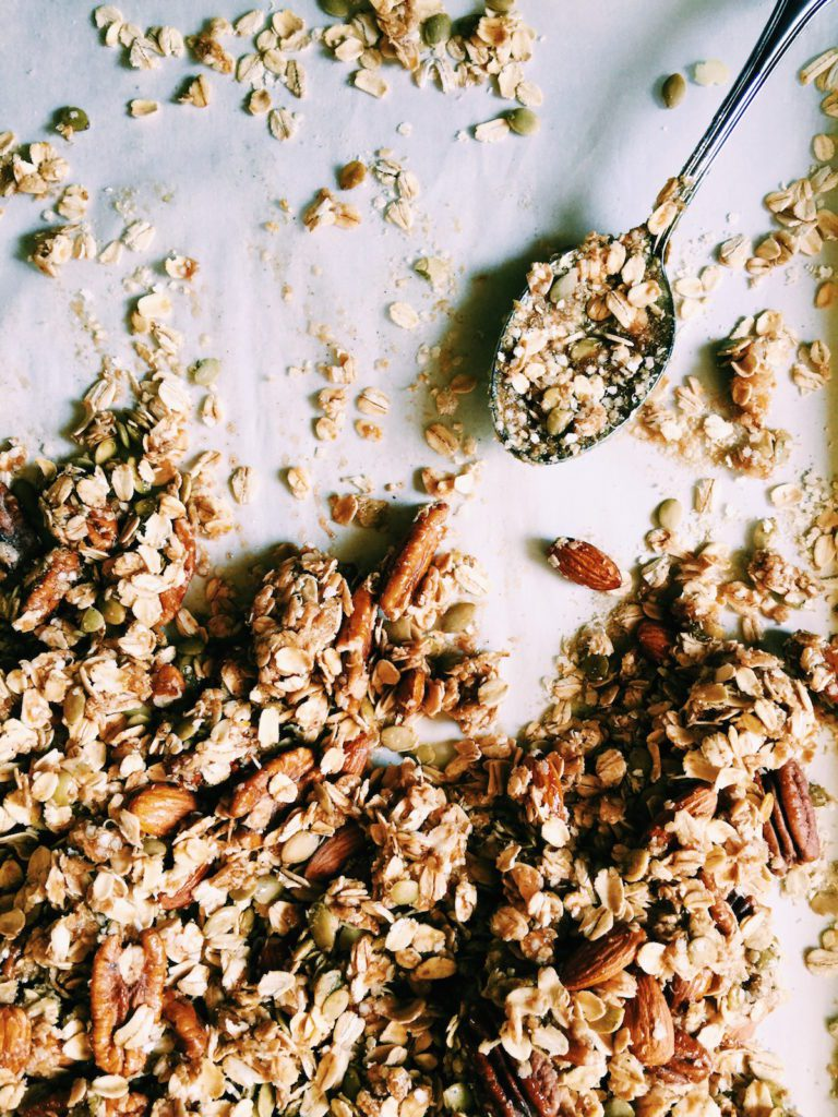 chocolate + oat + maple granola | DisplacedHousewife