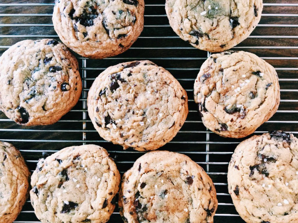 giant salted dark chocolate + olive oil cookies | displacedhousewife