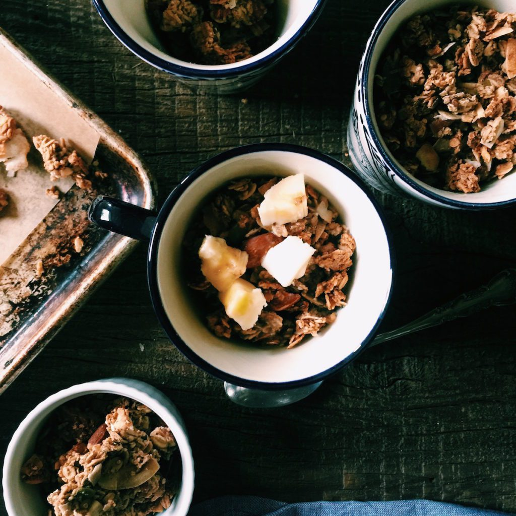 chai spiced granola | Recipe via DisplacedHousewife | nice spice, loaded with goodness + lots of granola-making tips