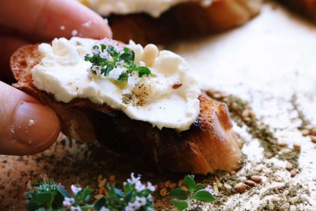 easy peasy labneh | Recipe via DisplacedHousewife | quick + easy appetizer, healthy, make-ahead @displacedhousewife