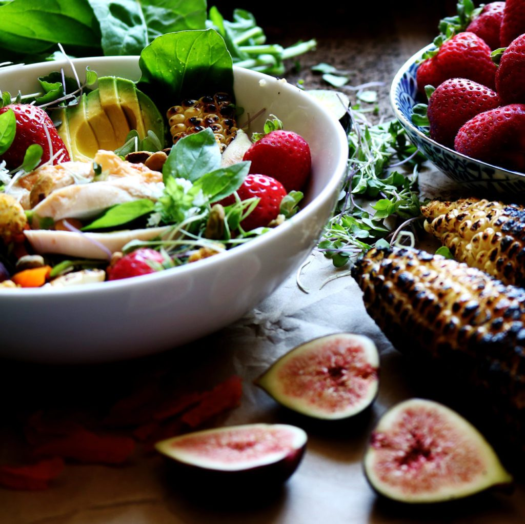Summer Strawberry Freekah Salad With Pistachio-Crusted Goat Cheese + Strawberry Tahini Dressing   Recipe via DisplacedHousewife