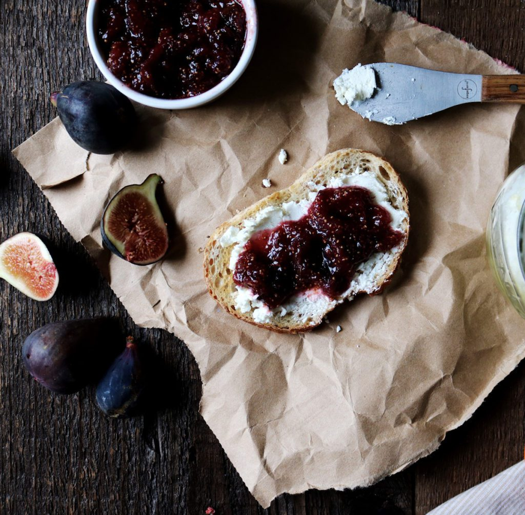 Five Spice Fig Jam | Recipe via DisplacedHousewife | super quick freezer jam...perfect for cheese boards + leftover turkey sandwiches. Stash some away for the holidays!! @displacedhousewife xo