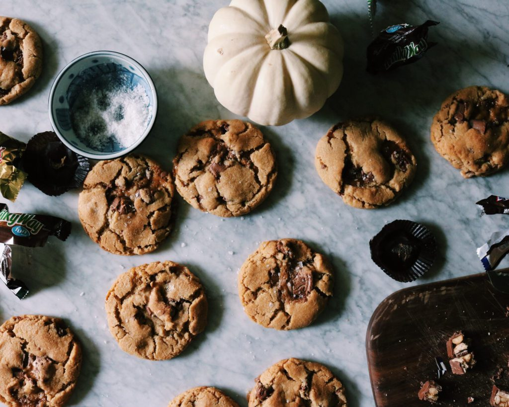 Halloween Candy Cookies | recipe via DisplacedHousewife | holy. moly. i thought these would taste cheap and like store bought candy...but no. life changing.