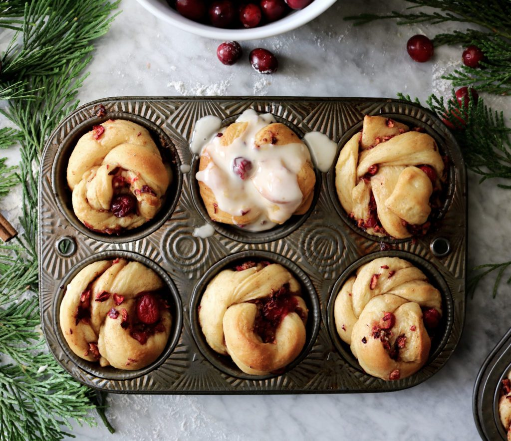 Cranberry Spice Breakfast Buns | recipe via DisplacedHousewife | a completely make-ahead day (by days!), the perfect holiday breakfast or brunch treat