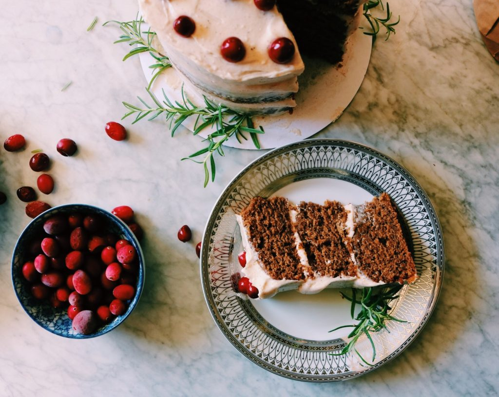 Gingerbread Cake With Spiced Citrus Buttercream Recipe | Displaced Housewife