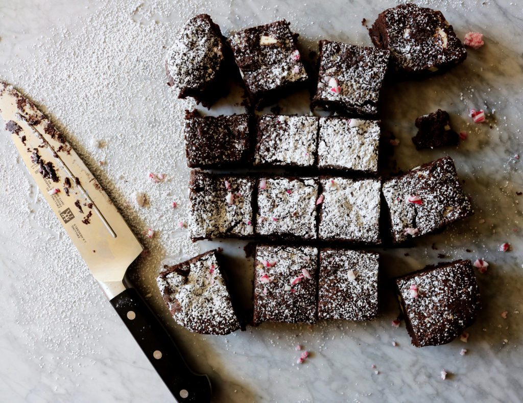 Triple Peppermint Brownies   recipe via DisplacedHousewife   quick, easy, festive...what more do we need? xo
