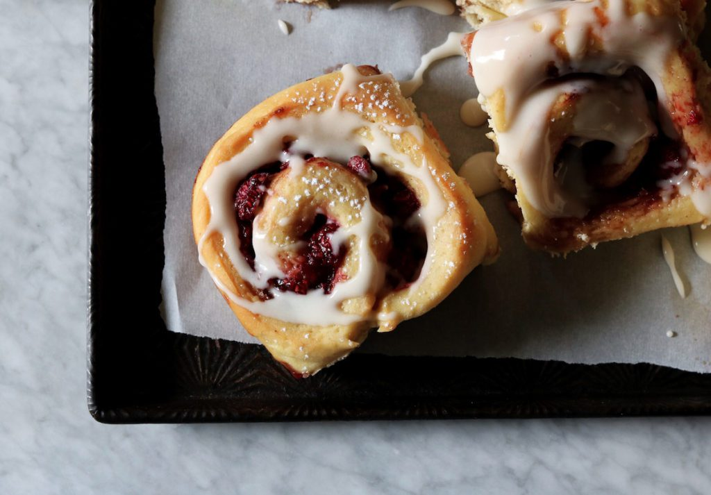 Overnight Raspberry Buns With Crème Fraîche Recipe | DisplacedHousewife