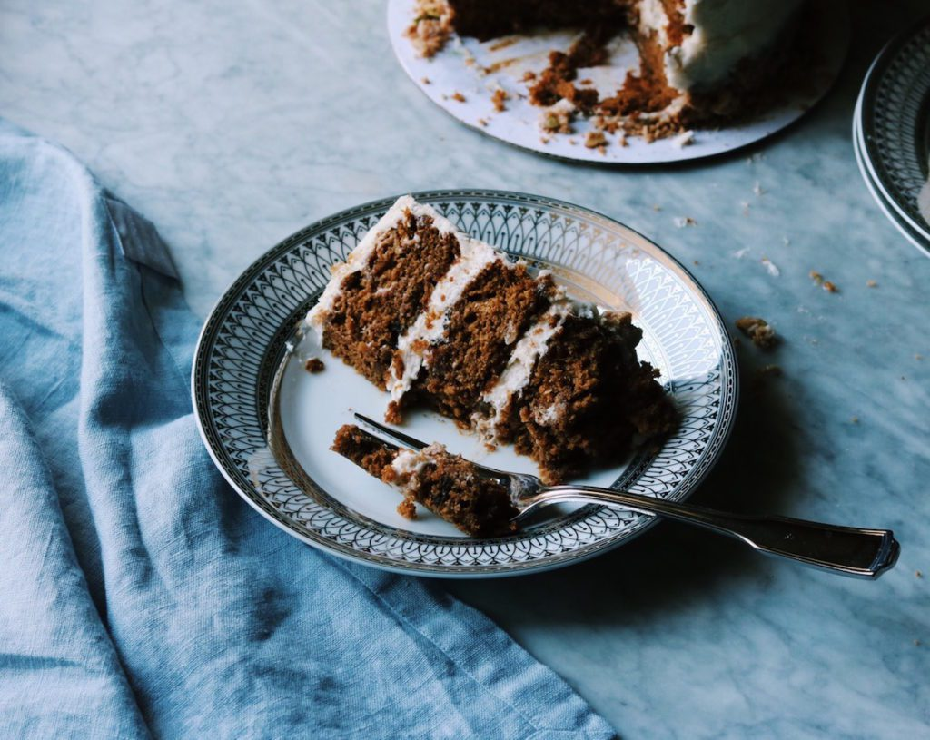 Pumpkin Layer Cake With Maple Pecan Clusters Recipe by Rebecca Firth | DisplacedHousewife