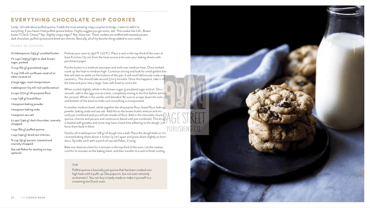 Everything Chocolate Chip Cookies Recipe from The Cookie Book by Rebecca Firth
