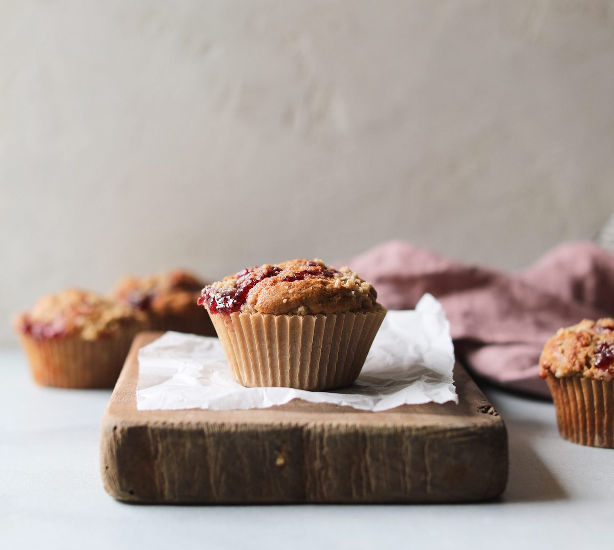Raspberry Jam Streusel Muffins | Recipe via DisplacedHousewife