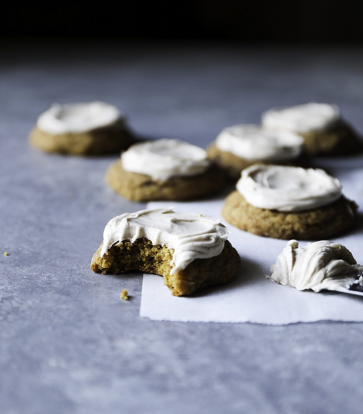 Brown Butter Pumpkin Cookies With Spice Cream Cheese Frosting Recipe from The Cookie Book by Rebecca Firth | DisplacedHousewife