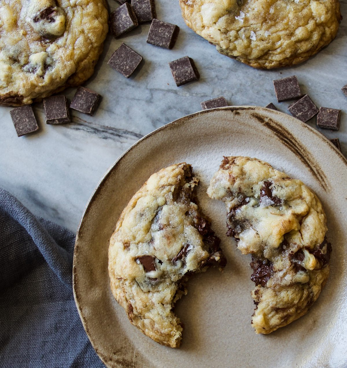 Crème Fraîche Chocolate Chunk Cookies Recipe | Displaced Housewife