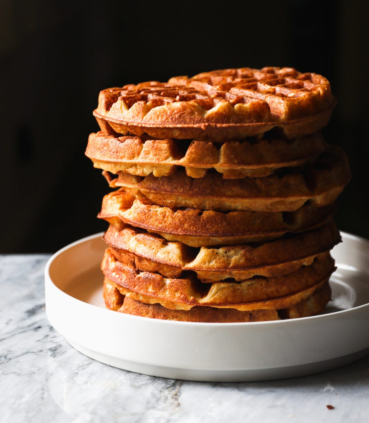 Yeasted Overnight Waffles Recipe   DisplacedHousewife