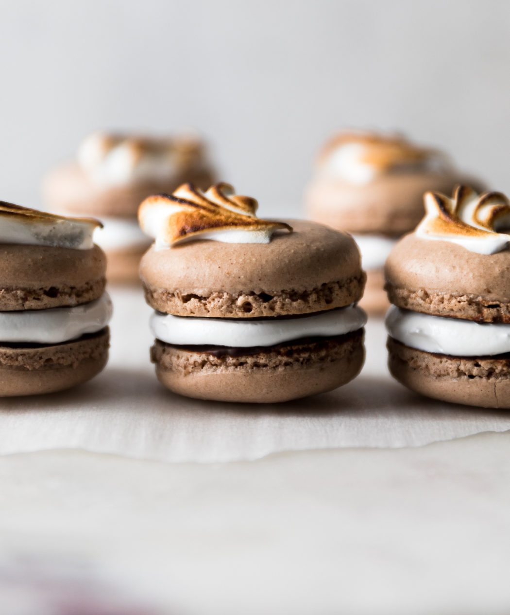 Chocolate French Macarons With Marshmallow Filling Displacedhousewife