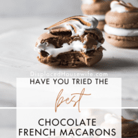 Chocolate French Macarons with Marshmallow Filling