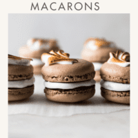 Three Chocolate French Macarons with Marshmallow Filling