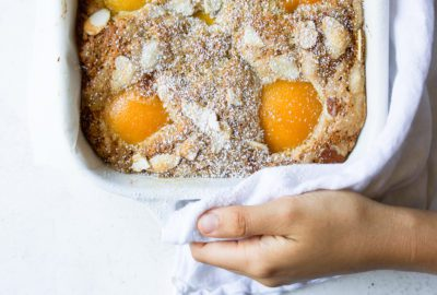Rustic Peach Cake | recipe via DisplacedHousewife Rebecca Firth