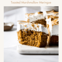 Pumpkin Bars with Salted Caramel and Toasted Marshmallow Meringue