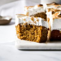 Pumpkin Caramel Bars with Marshmallow Meringue