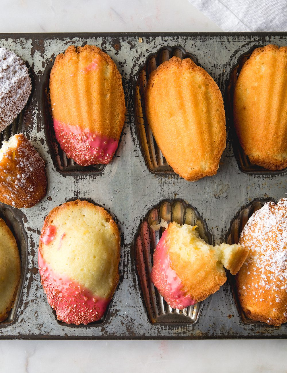 Some pretty Madeleines close up