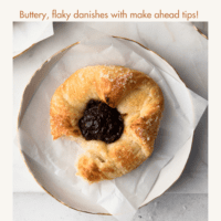 A single flaky spiced prune danish
